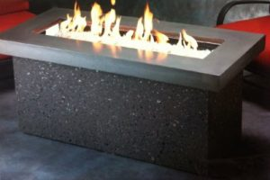 Gas Fire Table made by the Outdoor Great Room