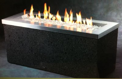 Rectangular NG or Propane Firepit