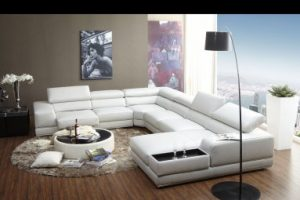Modern Sectional Sofa by Kuka, full size 1576 looks just Amazing in White Leather