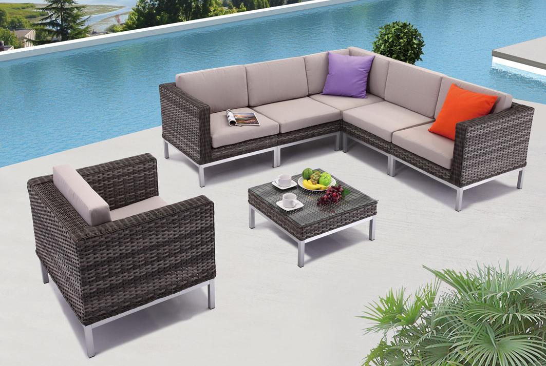 Modern Outdoor Patio Set The Monaco Vancouver Sofa And