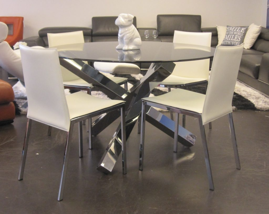 Modern Round Glass Dinning Table Dining Products
