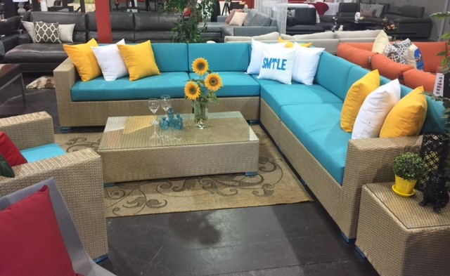 Bel Air large patio sectional sofa