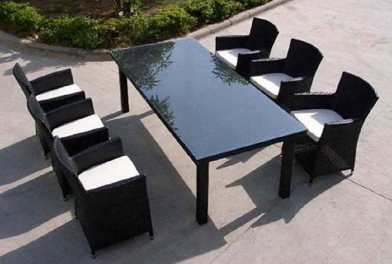 6 Seater Patio Dining Table set