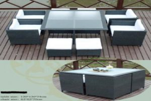 Square Patio Dining Table Set