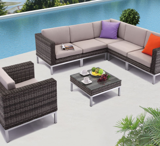 Outdoor Patio Ideas, the Monoco Sectional Sofa