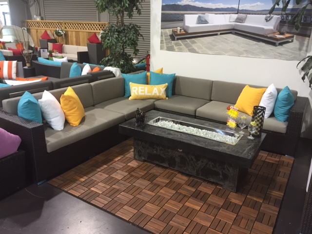 Large Patio Sectionals allow comfortable seating for all your guests, the Bel Air is our most popular one