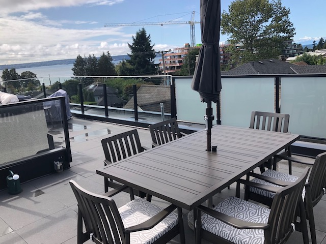 Bolano dining set with view from West Van
