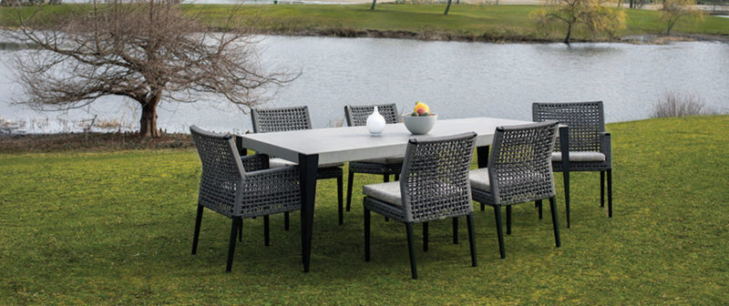 patio furniture vancouver featuring the genval dining table by ratana.