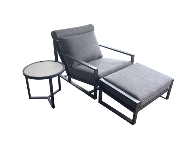 Santorini chair, ottoman and side table