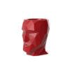 A side profile of a red Vondom Adan planter.