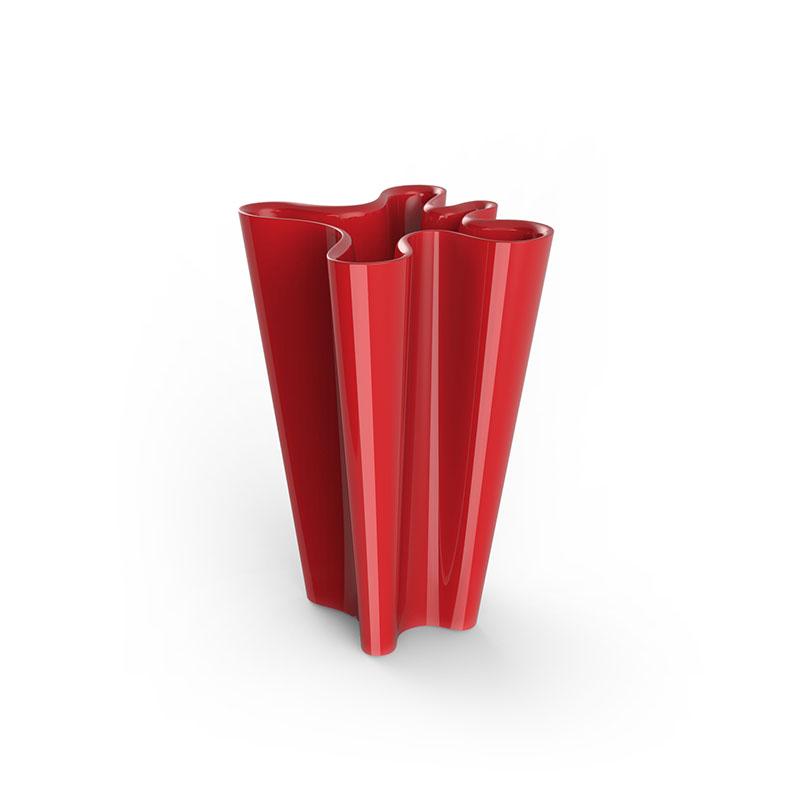 A Vondom bye bye planter in red.
