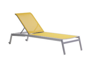 The Lyon loungers by Ratana in yellow.